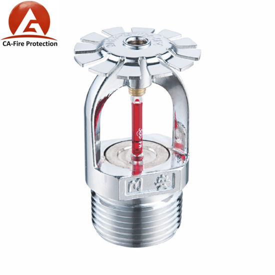 Red Glass Bulb Chrome Finished Pendent Upright Sidewall Fire Sprinkler  Heads Price