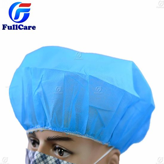 """5 Bags Hairnets White Nurse//Bouffant Cap - 21/"""" 500 Pieces"""