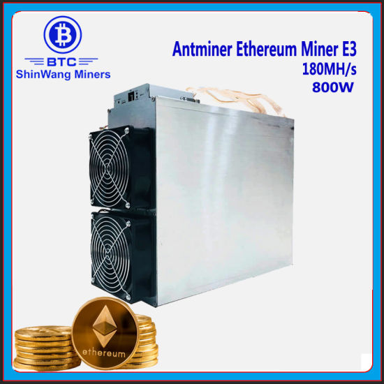 Antminer E3 Eth Ethereum Miner 180mhs 800W for Eth Ethereum  Mining---Inlcued PSU ---Shiping to Iran