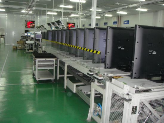 Automated Assembly TV Production Line with Small Work Assembly Table