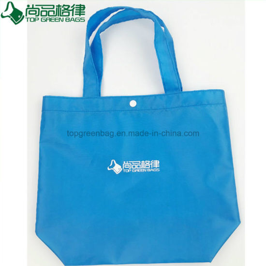 2018 china polyester grocery shopping tote reusable laundry bags
