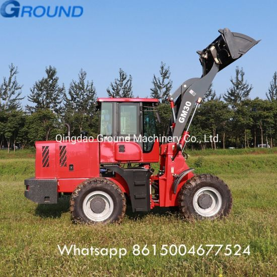 Earth mover 3ton wheel loader /front mini loader for sale with bucket