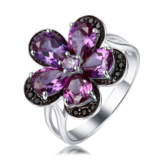 925 Silver & CZ Flower Design Ring Fashion Customized Jewelry Jewellery pictures & photos