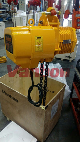 2.5ton Low Headroom Type Double Speed Electric Chain Hoist pictures & photos