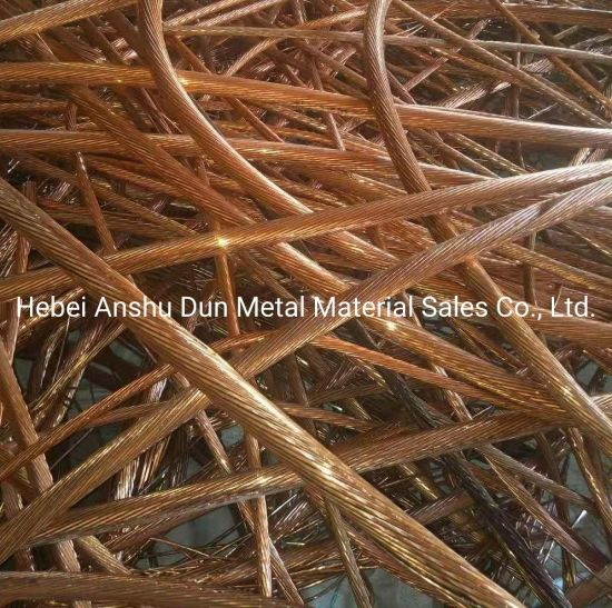 High Quality High Purity Scrap Copper Wire Good Quality 99.95%-99.99% Waste Copper Wire