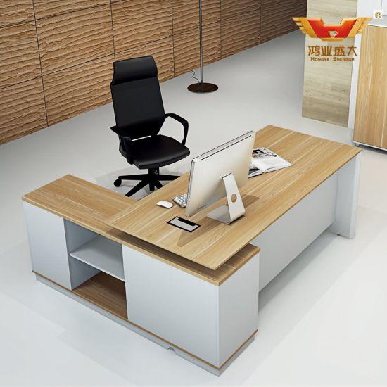 New Design Office Desk Manager Table L Shape Executive Desk (H85-0176)
