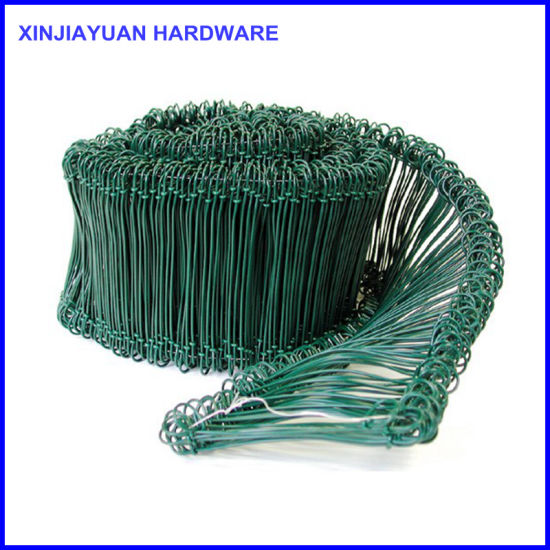 1cc721a5a678 China Loop Tie Wire Bar Ties Green Yellow PVC Coated - China Rebar ...