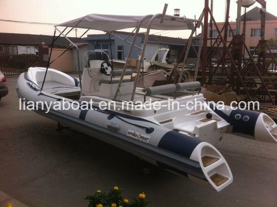 Liya 6.2m Fiberglass Hull Material Inflatable Boat Rigid Yacht Tender