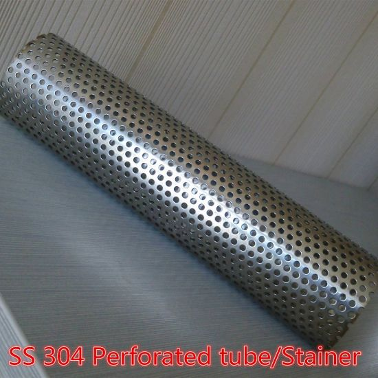 Perforated Stainless Steel Basket Strainer Filter Tube/Pipe Filter/Perforated Filter Tube Pipe for Automobile Exhaust System & China Perforated Stainless Steel Basket Strainer Filter Tube/Pipe ...