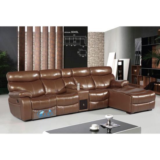 L Shape Recliner Sofa Set 6045lt