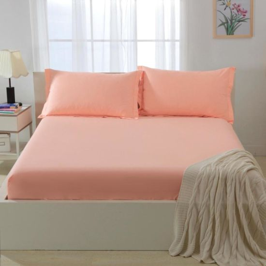 100% Cotton Bedding Home Textile, Fitted Sheet pictures & photos