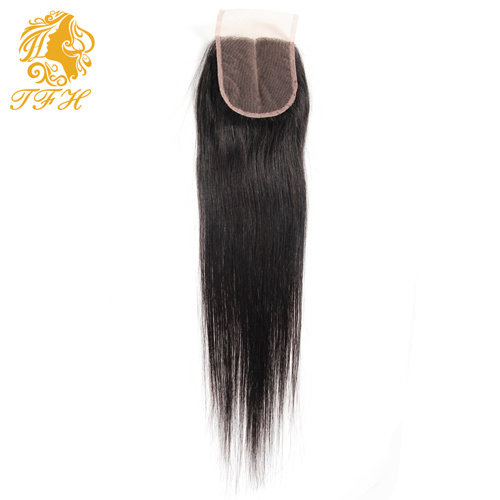 Brazilian Virgin Hair with Closure 4 PCS Human Hair Bundles with Lace Closures Unprocessed Brazilian Straight Hair with Closure pictures & photos