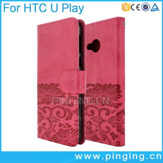 8ec4a8c3bd5570 China Flip Cover Leather Phone Case for HTC U Ultra U Play - China ...