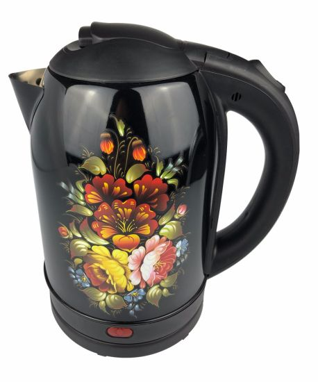 1.8L Colorful Engraved Stainless Steel Electric Kettle