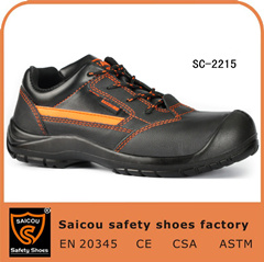 Low Cut Shock Resistantce Casual Sports Safety Shoes with Lace Sc-2215