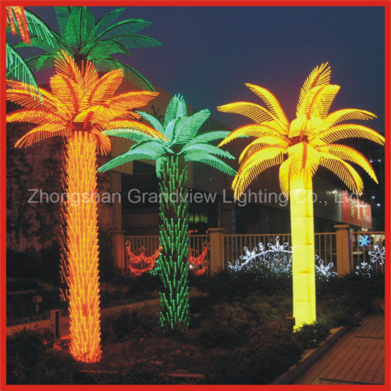 24V LED RGB Color Public Park Coconut Tree Light pictures & photos