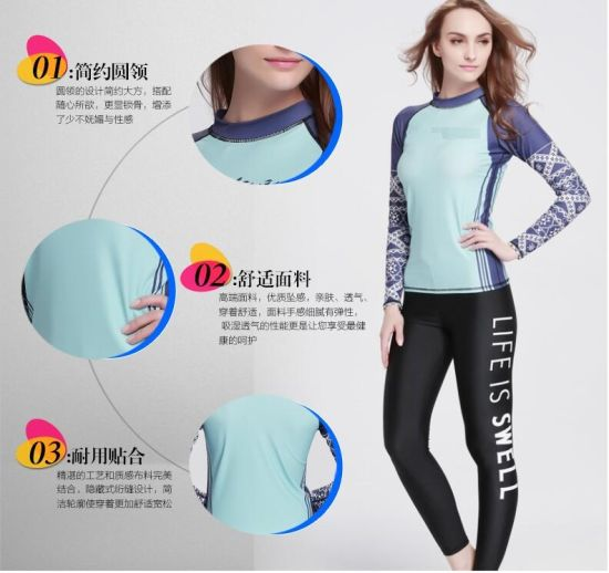 2016 Breathable Lycra Long Sleeve Laday's Wetwear &Sportwear (CL-730)