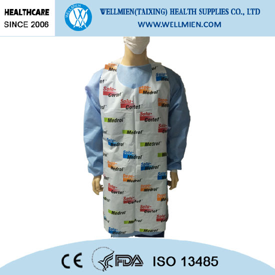 Customized New Design Disposable Kitchen Plastic Apron/PE Bibs pictures & photos
