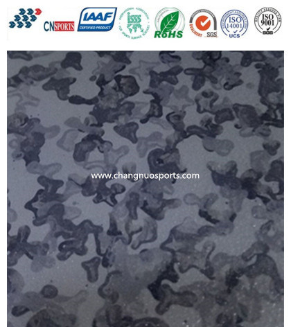 Easy Cleaning Scratch Resistant Rubber Commercial Flooring