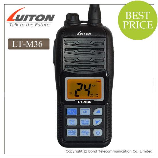 China Handheld VHF Marine Radio IP-X7 Waterproof Lt-M36 Anytone
