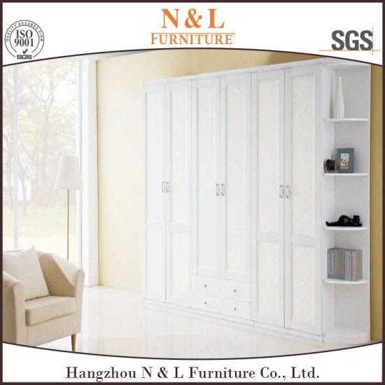 Walk In Closet White Laminate Bedroom Wall Wardrobe