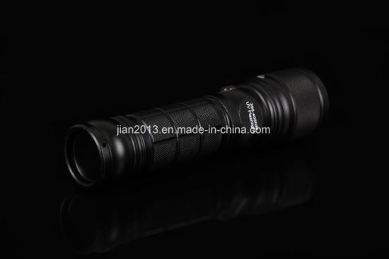 UV+White LED Double Lighting Source Flashlight pictures & photos