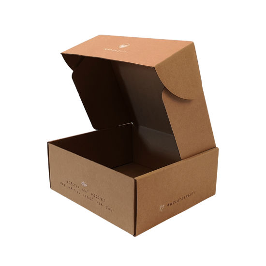 Wholesale Custom Brown Kraft Paper Corrugated Cardboard Carton Delivery Packaging Box for Mail
