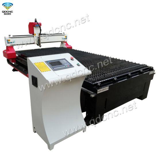 Metal CNC Plasma Cutting Machine with Fume Exhausting System Qd-1530