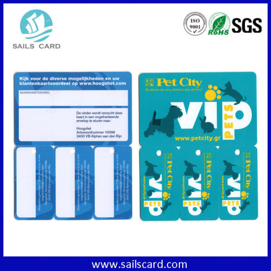 Customized PVC Plastic Card Die Cutting Factory pictures & photos