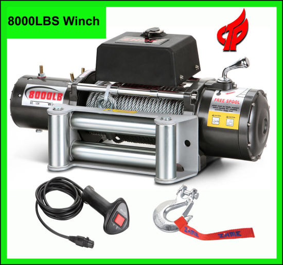 Electric Winch PS8000 Power Winch with Wireless Remote Control 12V/24V