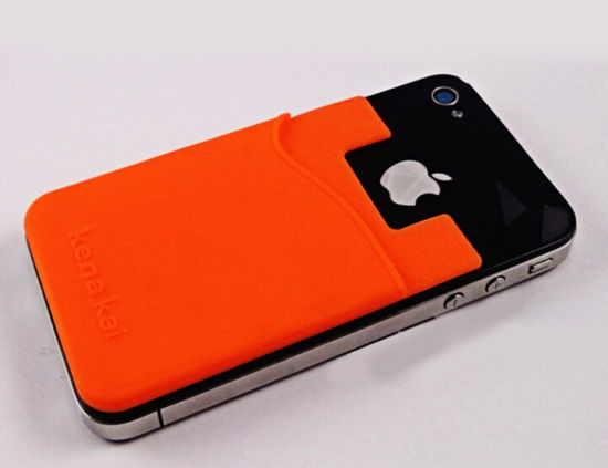 custom made mobile phone sticky silicone card holder - Phone Card Holder Custom