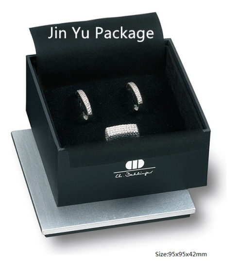 OEM Fancy Black Paper Jewelry Box/Ring Box/Pendant Box/Necklace Box pictures & photos