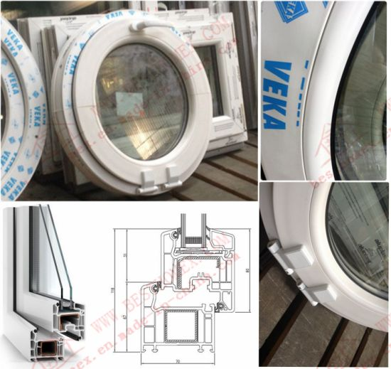 High Quality UPVC Arch Window (BHP-RW09) pictures & photos