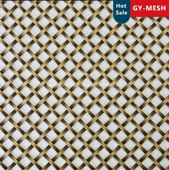 Decorative Flat Wire Grilles for Cabinet Door Inserts/Copper Woven Mesh/Stainless Steel Woven Mesh