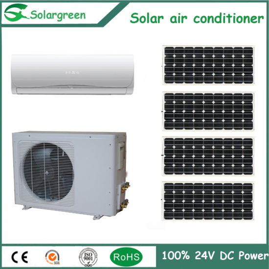 9000BTU 12000BTU DC 48V Affordable 100% Solar Portable Air Conditioner pictures & photos