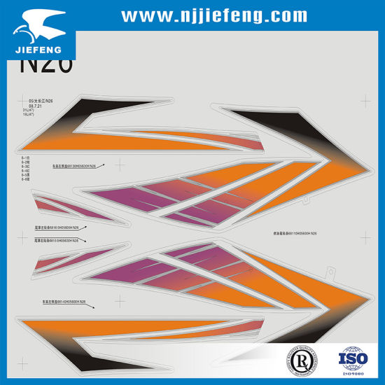 china different shapes screen printing motorcycle atv sticker