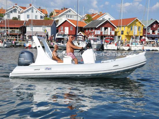 Liya 19feet Fiberglass Sport Rib Boat Rescue Inflatable Boat