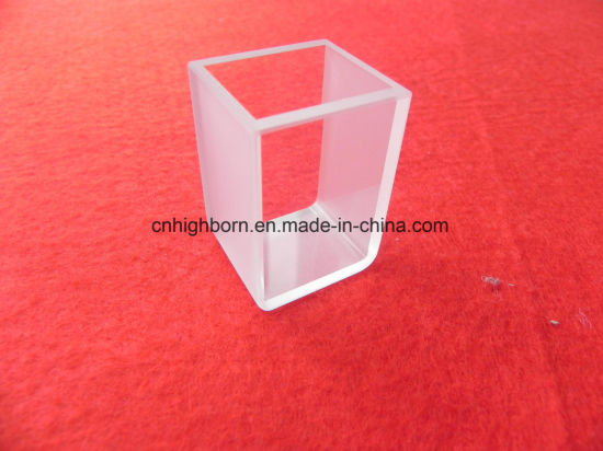 High Quality Customized Round Conner Optical Quartz Cuvette Cell