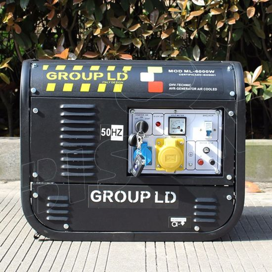 Bison (China) 2kVA 2kw Electric Power 6.5HP Gasoline Generator Set pictures & photos