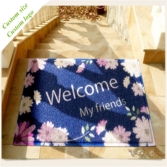 Non Slip Doormat Entrance Floor Mat Rug PVC Mat Print pictures & photos