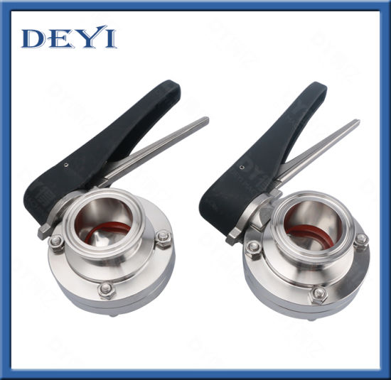 SS304/316L Stainless Steel Sanitary Manual Clamp Butterfly Valve with Clamp Ends (DY-BV1007) pictures & photos
