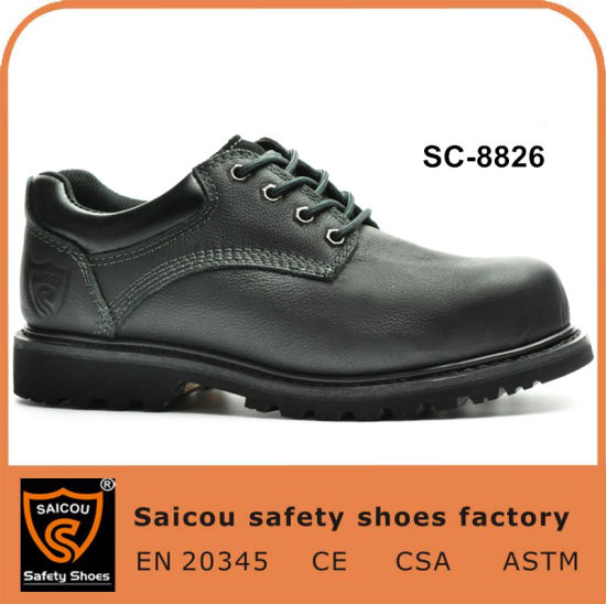 Cow Leather Goodyear Welted Outdoor Safety Shoes Footwear Factory Sc-8826