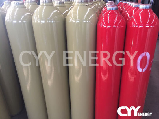ISO9809-1 Standard 10L 20L 40L 47L 50L Stainless Steel Gas Cylinders with Industrial Gas Arogen Nitrogen