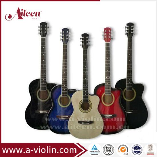 "[Aileen] 38"" Beginner Cutaway All Linden Plywood Acoustic Guitar"