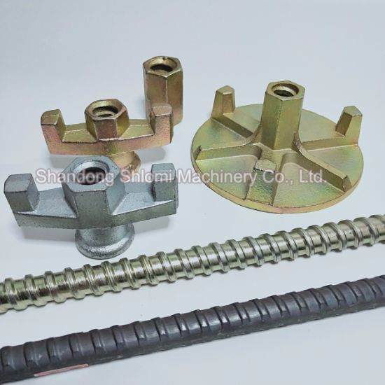 Peri/Doka/Meva Casting Wing Tie Rod Nut, Bolts and Formwork Wing Nuts, Carbon Steel Formwork Wing Tie Rod