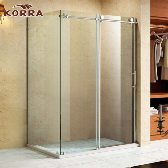China Tempered Glass Corner Shower Enclosure With 1 Sliding Door