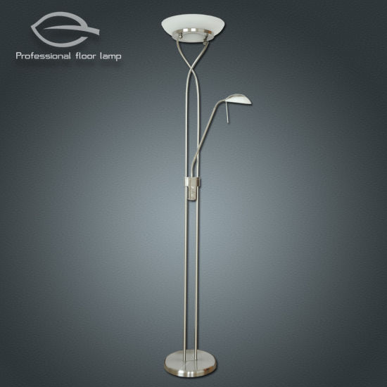 China satin nickel led mother and child led 3000k floor lamp with satin nickel led mother and child led 3000k floor lamp with dimmer switch keyboard keysfo Image collections