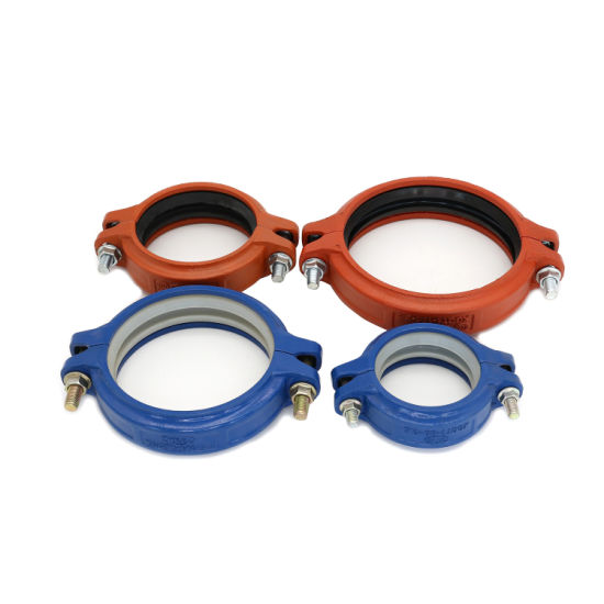 FM UL Certificated Ductile Iron Pipe Fittings Angle Pad Rigid Coupling for Thermoelectric and Military Piping System