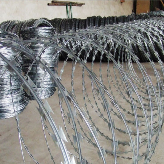 China Hot Dipped Galvanized Military Concertina Razor Wire - China ...