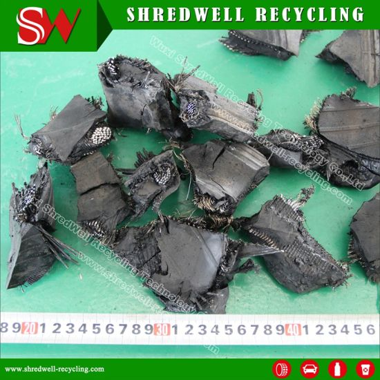 Old Tire/Tyre Recycling Plant to Produce 50-150mm Rubber Chips pictures & photos
